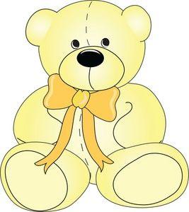 Bears clipart yellow. Teddy bear image cute
