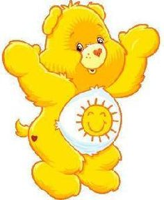 Ich liebe die gl. Bears clipart yellow
