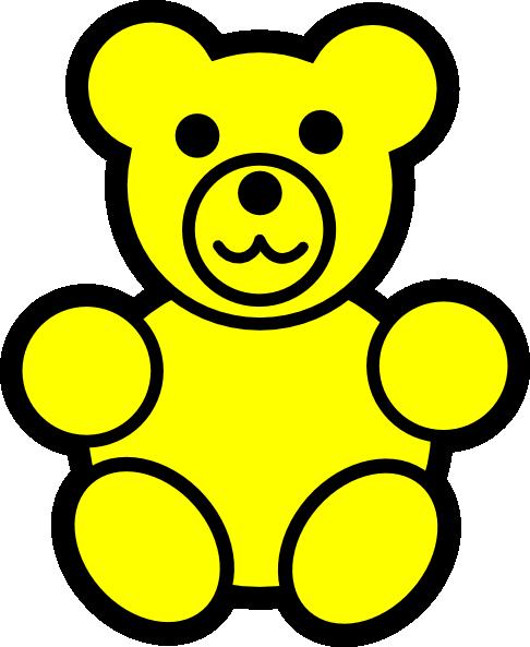 Bear clip art at. Bears clipart yellow