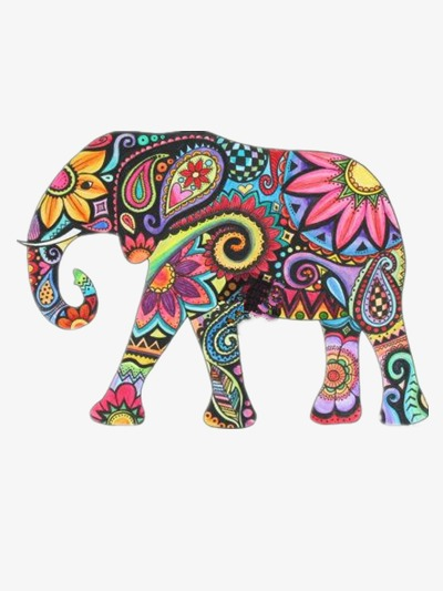 Beautiful clipart animal. Elephant hand painted png