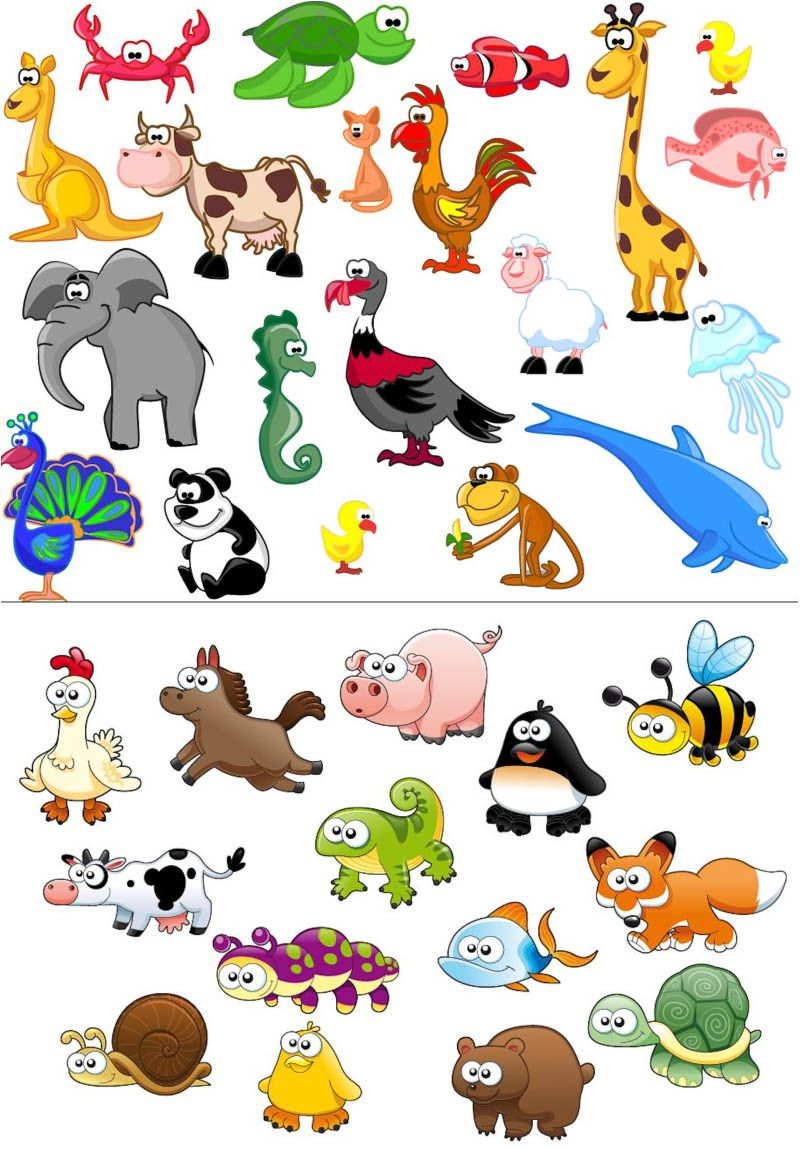 Beautiful clipart animal. Clip art vector funny
