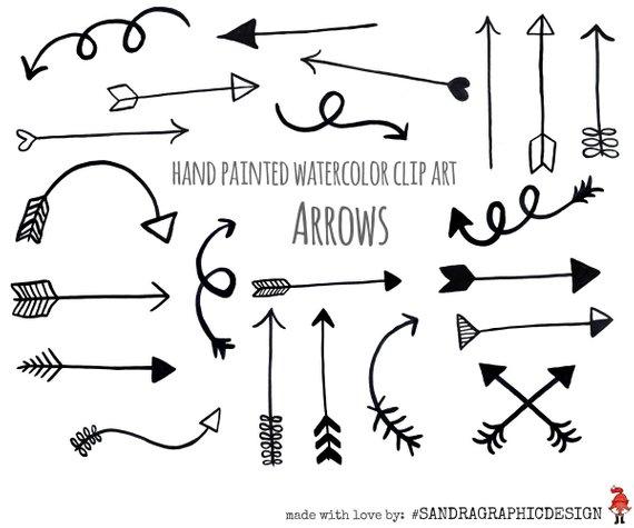 Clip art black arrows. Beautiful clipart arrow