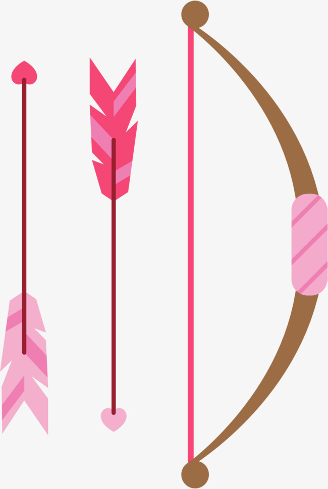Beautiful clipart arrow. Hand painted pink feather
