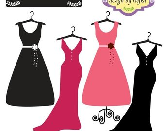 Beautiful clipart ball gown.  off dress clip