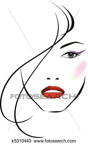 Beautiful clipart beautiful girl. Face women in