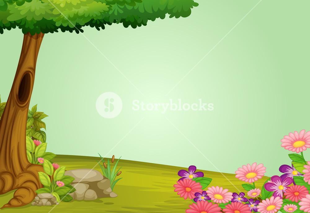 Illustration of and greenery. Beautiful clipart beautiful nature