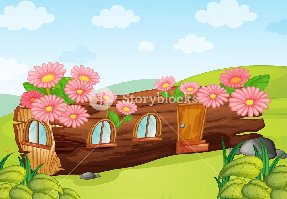 Beautiful clipart beautiful nature. Illustration of a wood