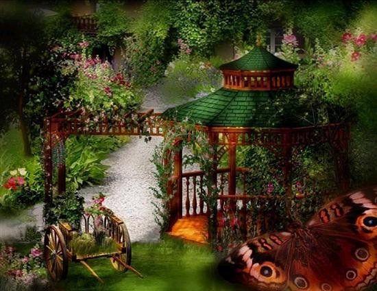 Beautiful clipart beautiful nature. Animated glitter graphics garden