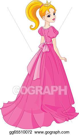 Vector art eps gg. Beautiful clipart beautiful princess