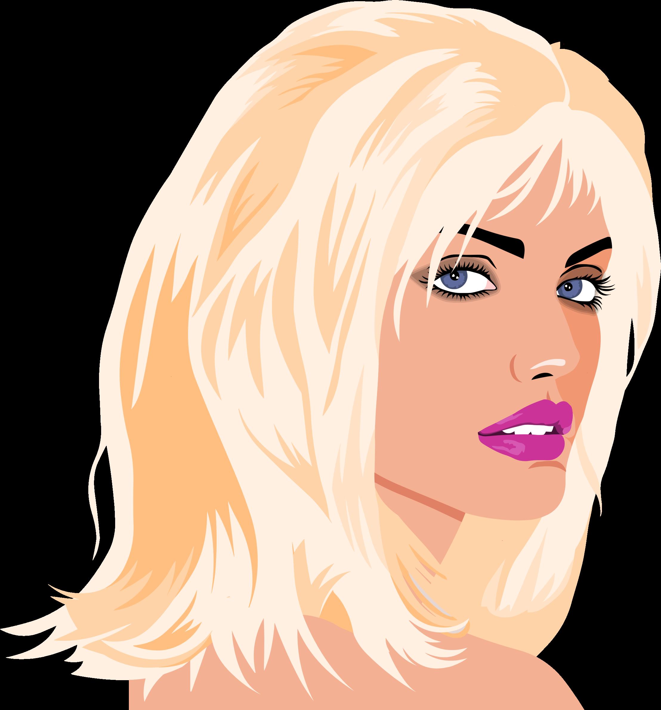 Faces clipart beautiful. Woman portrait big image