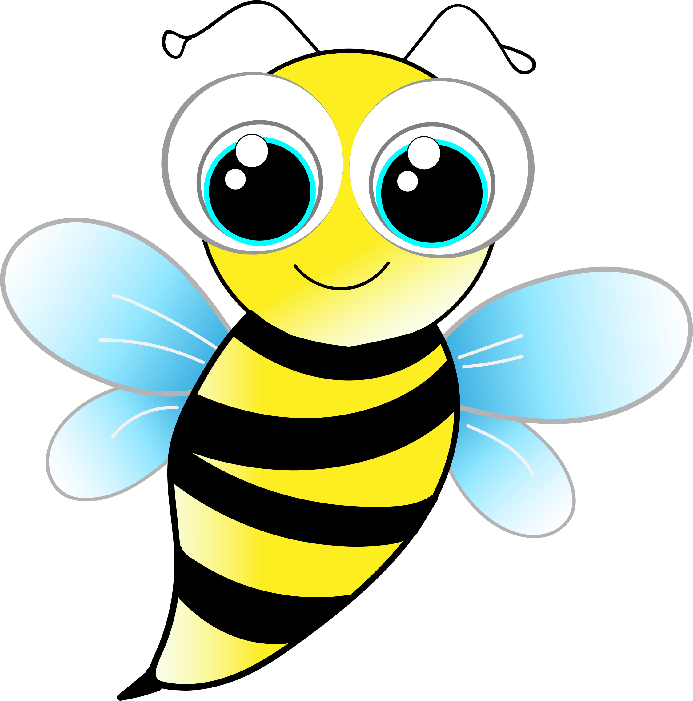 Number 4 clipart bee. Friendly big image png