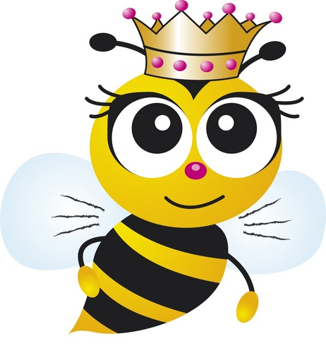 Beautiful clipart bee. Queen beauty on schedulicity