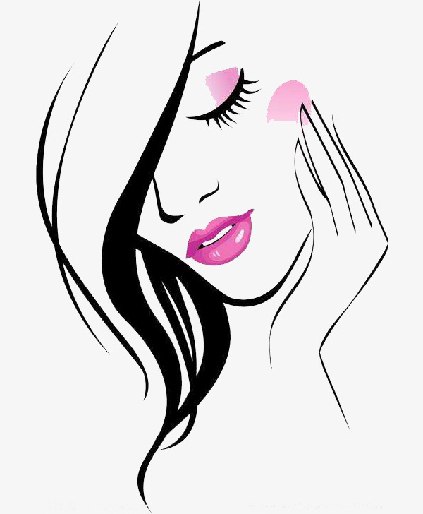 Beautiful clipart beuty. Face beauty touch the