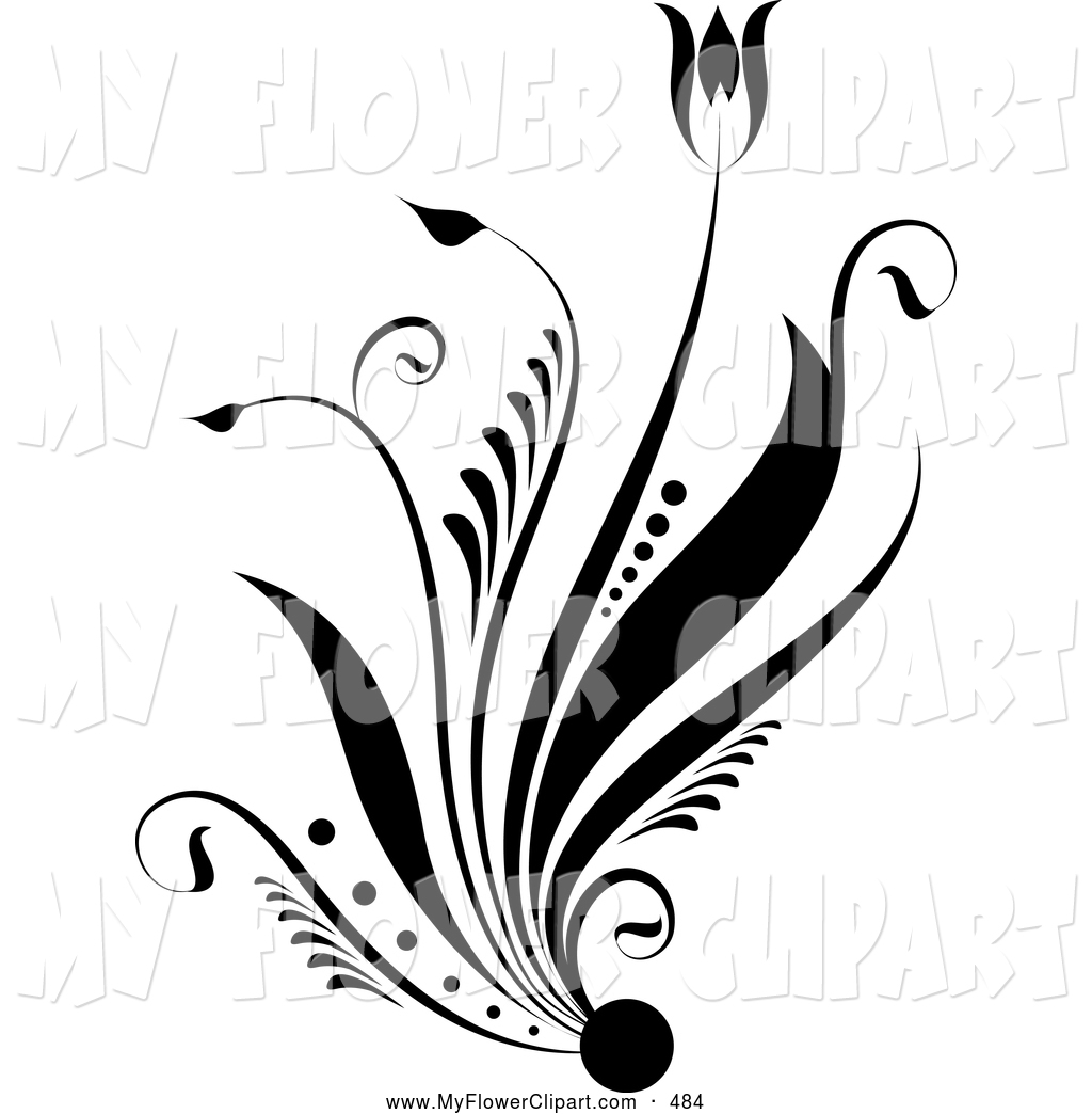 Clip art of a. Beautiful clipart black and white