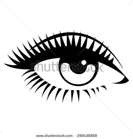 Beautiful clipart black and white. Eye station
