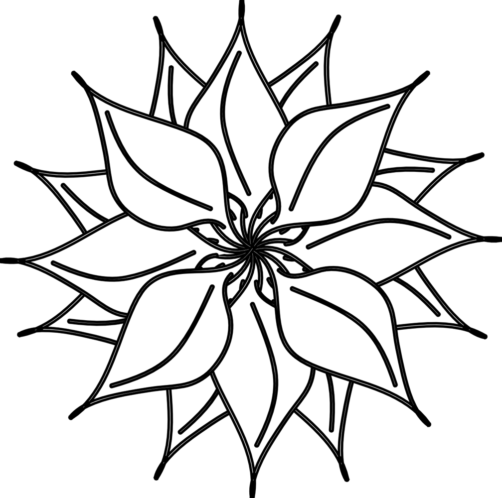 Best flower clipartion com. Beautiful clipart black and white