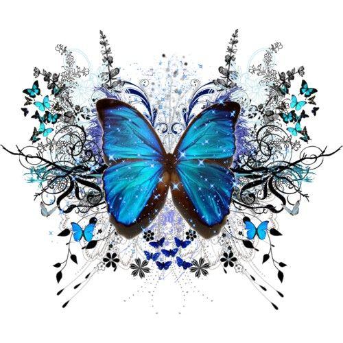 Beautiful clipart blue butterfly. Border clip art frame