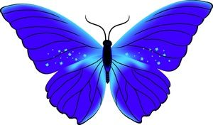 Beautiful clipart blue butterfly. Image and purple