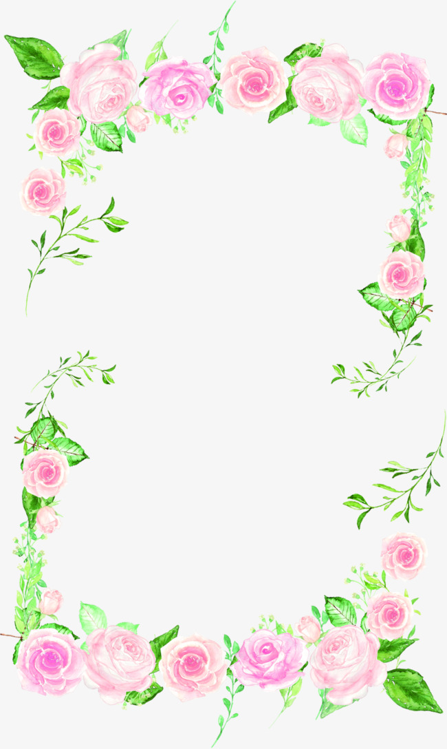 Flowers borders frame png. Beautiful clipart border