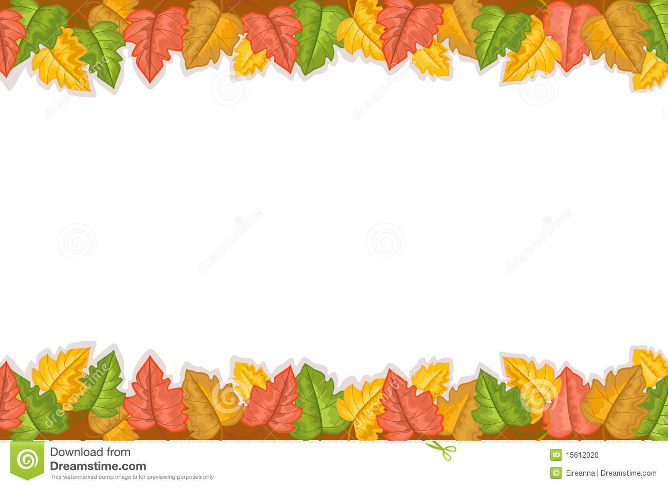 Fall . Beautiful clipart border