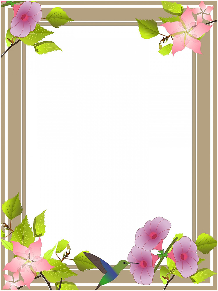Flower borders and frames. Beautiful clipart border