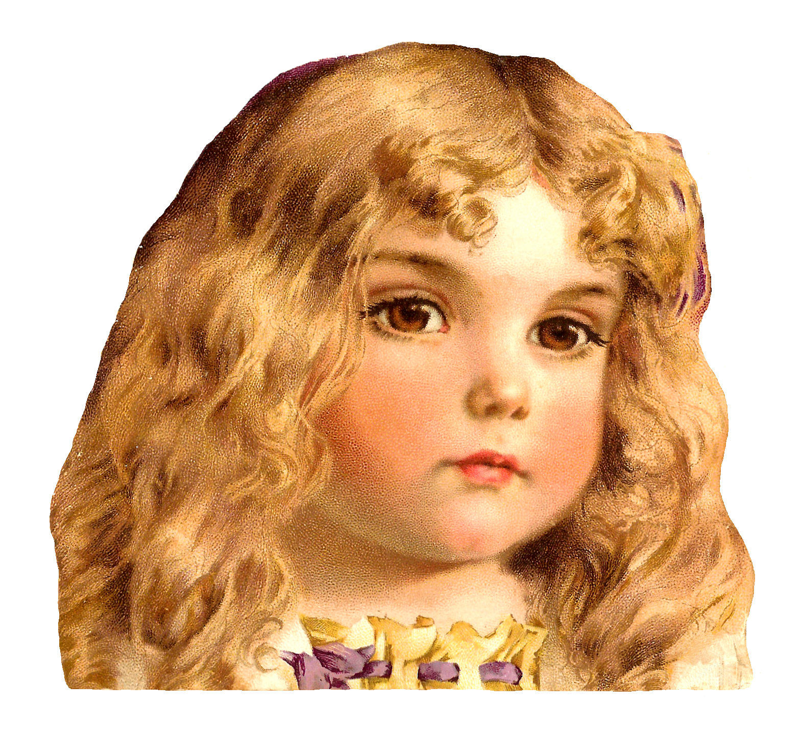 Girls clipart curly hair. Antique images free child