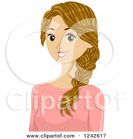 Beautiful clipart brown hair.  collection of pretty