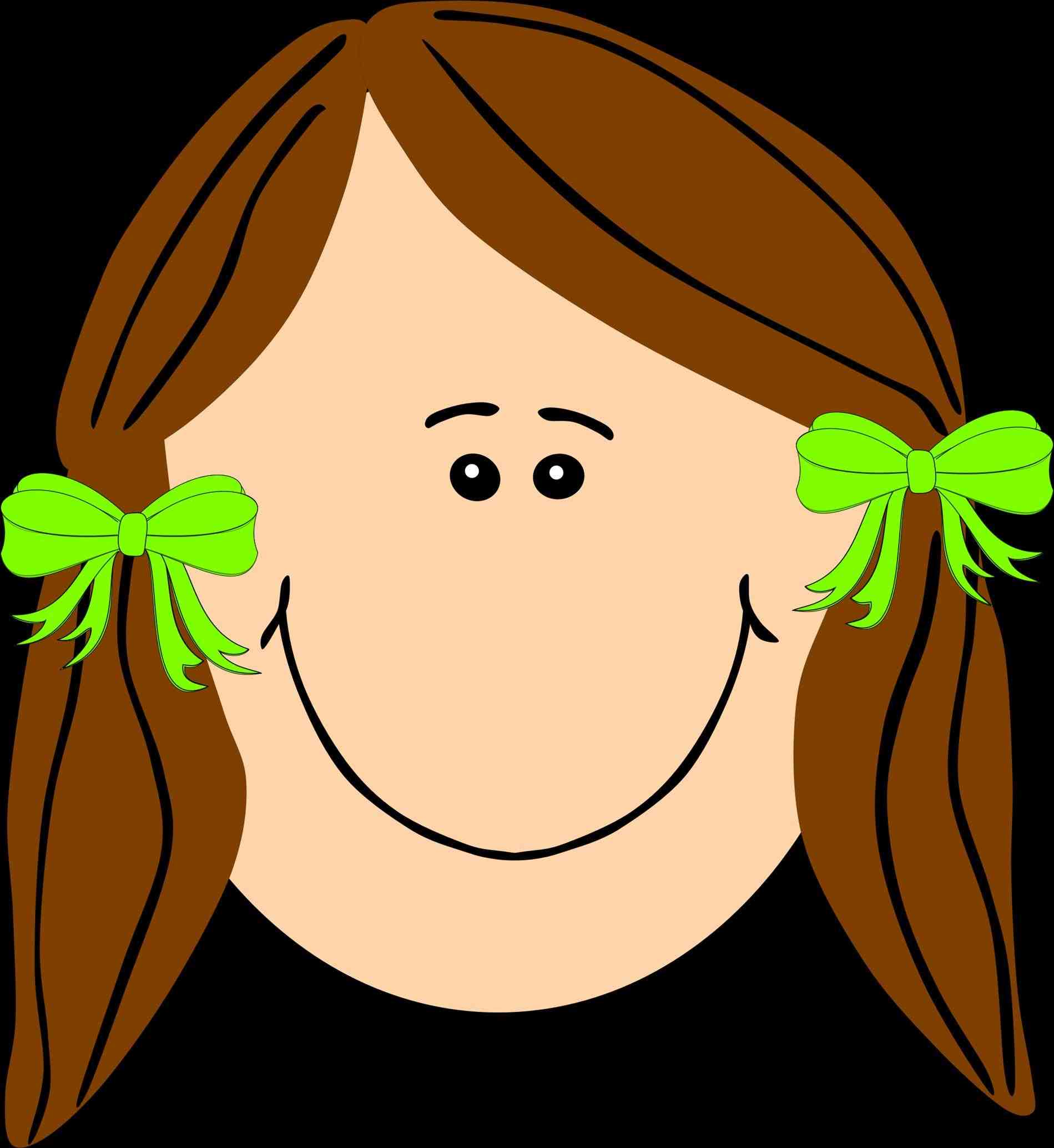Long fashionables xyz. Beautiful clipart brown hair