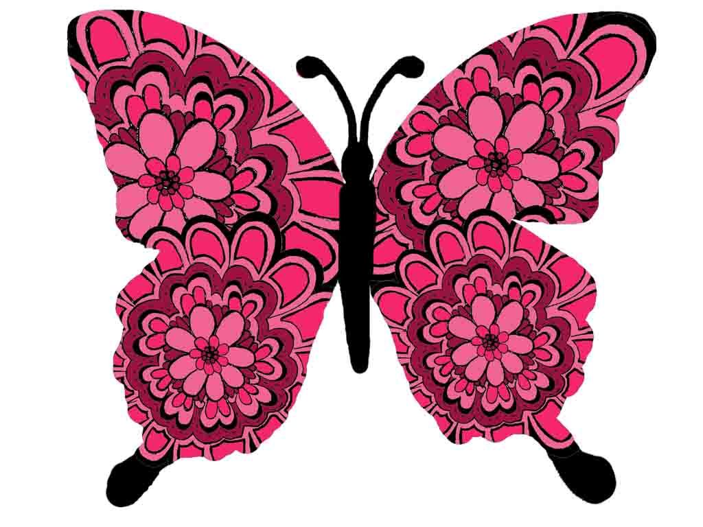 On white background download. Beautiful clipart butterfly