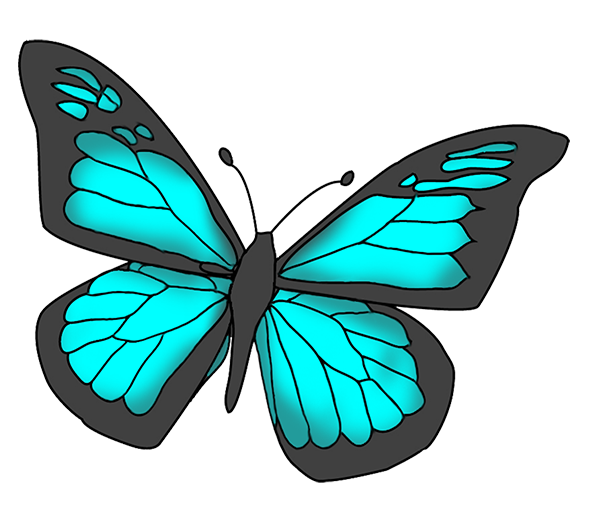Butterflies cartoon clipartix wings. Beauty clipart butterfly