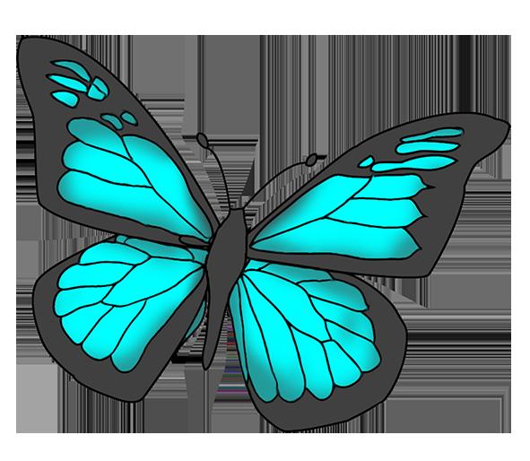 Butterflies cartoon clipartix wings. Beautiful clipart butterfly