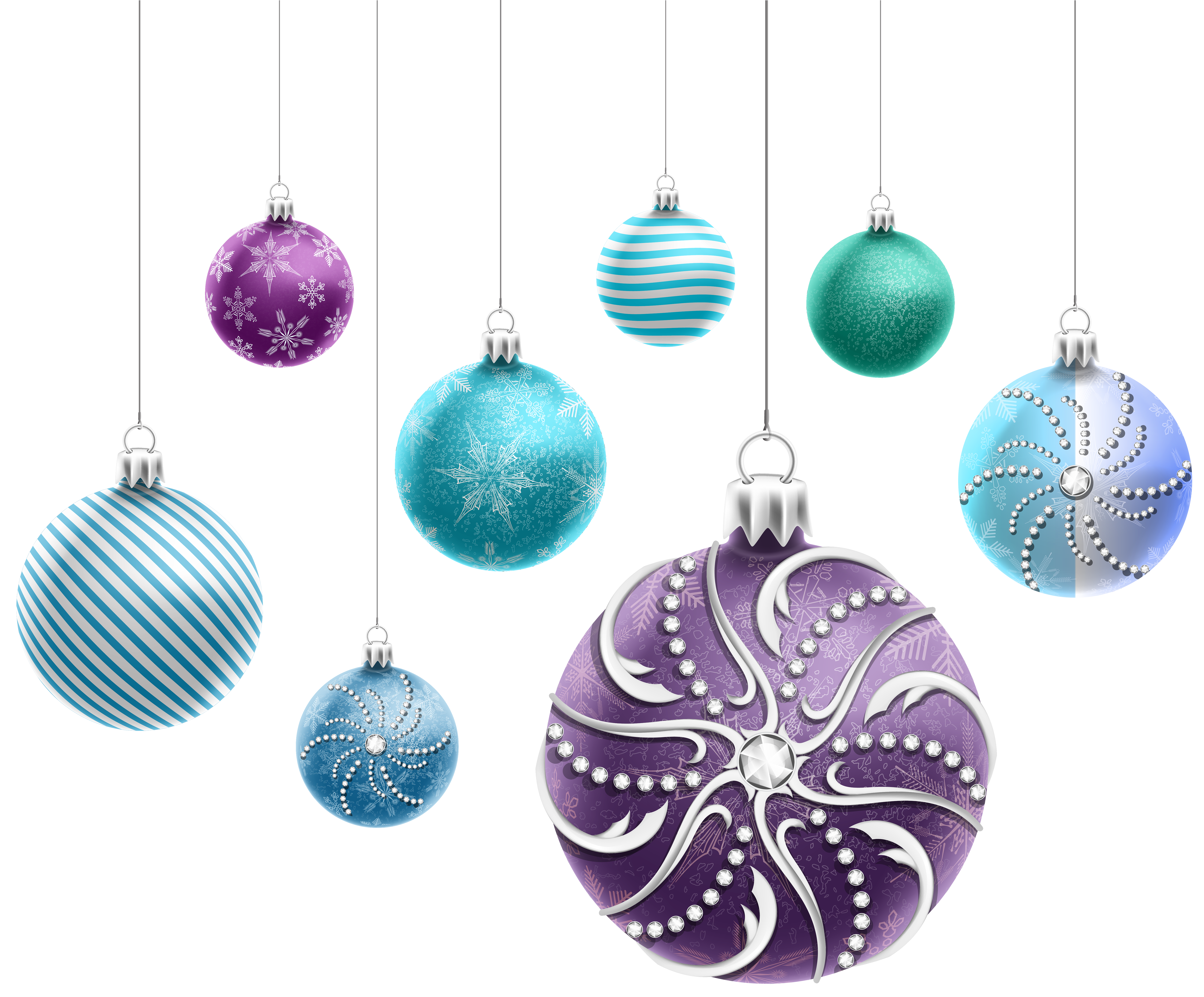 Ornaments png image gallery. Beautiful clipart christmas