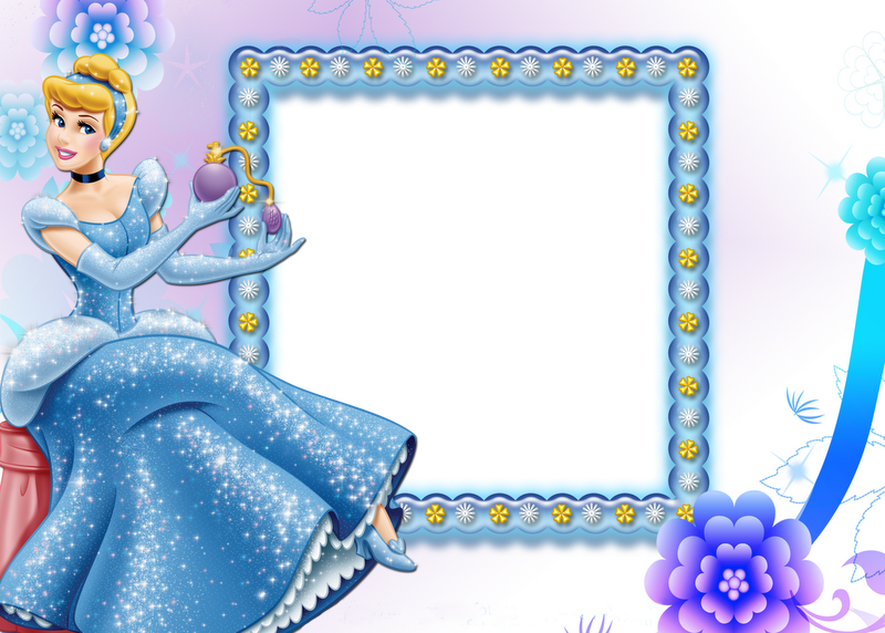 Transparent child frame with. Beautiful clipart cinderella