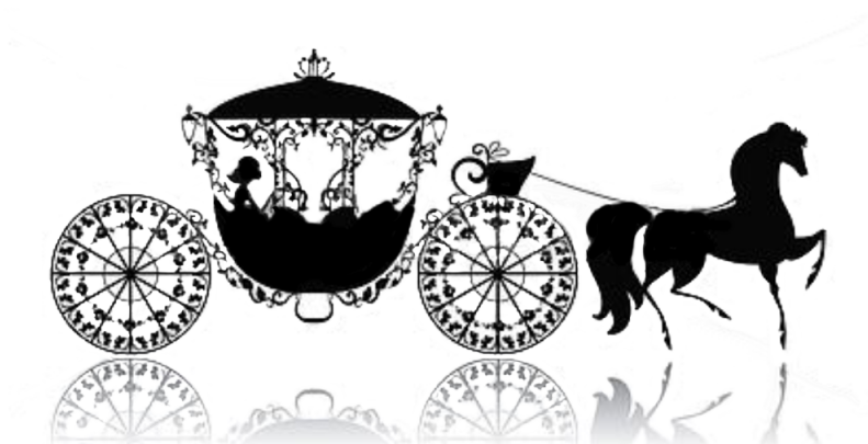 Cinderella beautiful book from. Carriage clipart fairytale