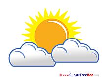 Weather clip art images. Beautiful clipart cloud