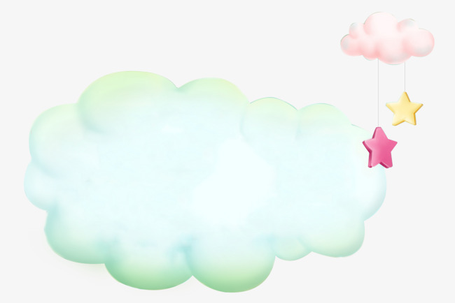 Beautiful clipart cloud. Cartoon hand painted clouds