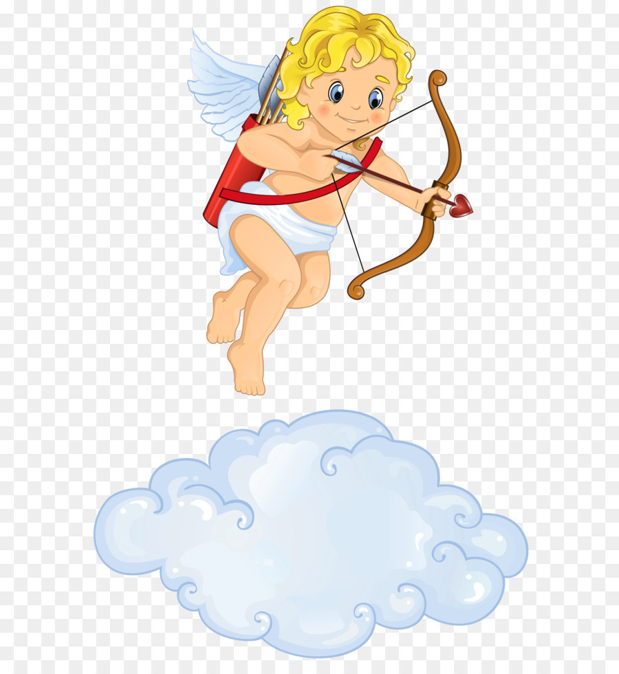 Beautiful clipart cloud. Cupid love angel with