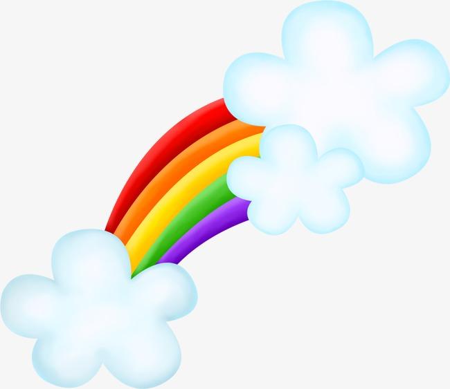 Beautiful clipart cloud. Exquisite cartoon cute rainbow