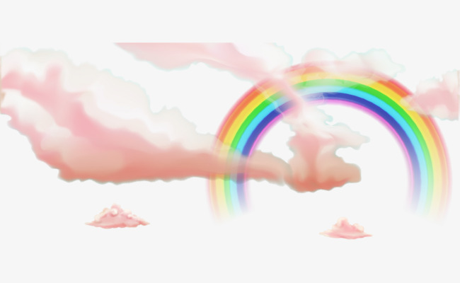 Small fresh pink clouds. Beautiful clipart cloud