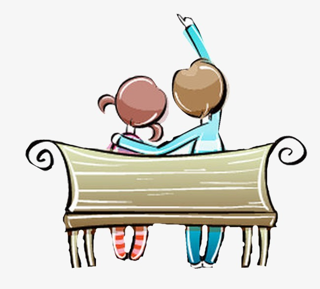 Exquisite cartoon couple chairs. Beautiful clipart cute