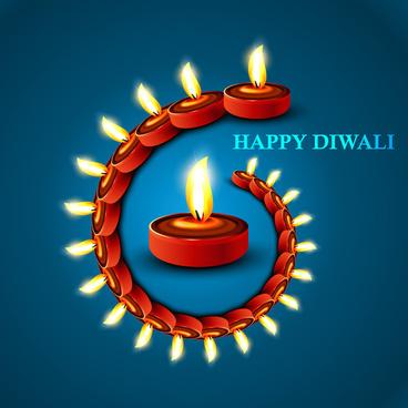 Lamp vector free download. Beautiful clipart diwali