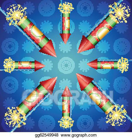 Eps vector crackers stock. Beautiful clipart diwali