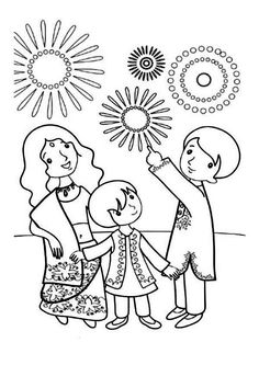 collection of drawing. Beautiful clipart diwali