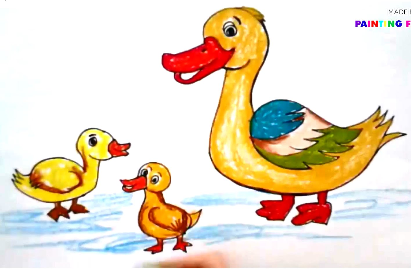 Pictures for kids clip. Beautiful clipart duck