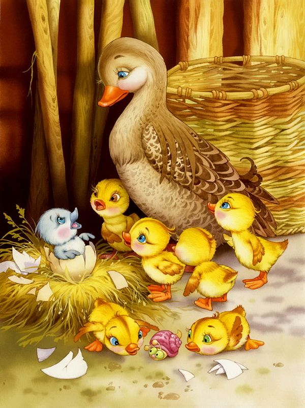 Fairy tale illustrations by. Beautiful clipart duck