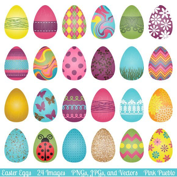 Eggs and vectors by. Beautiful clipart easter egg