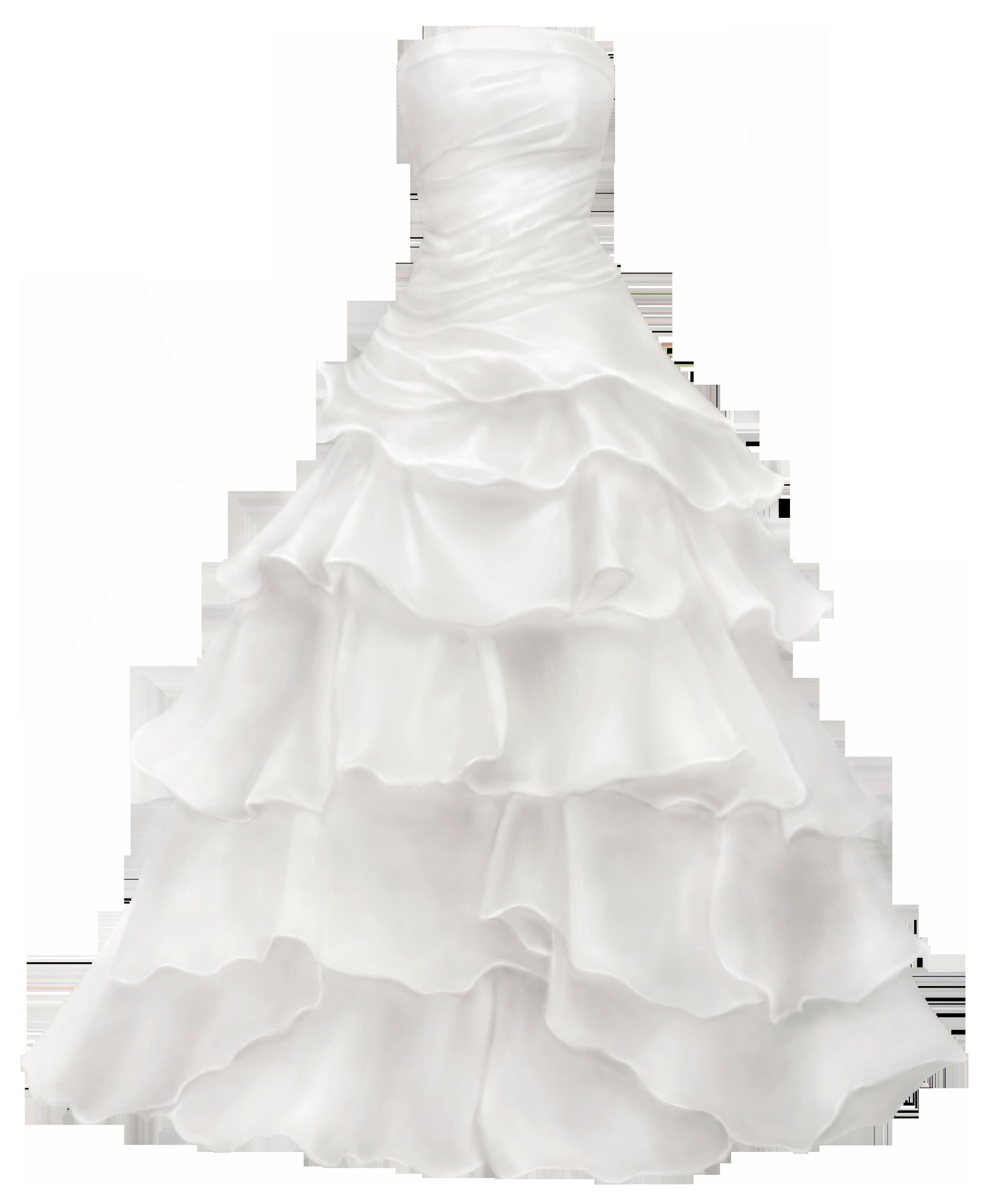 Beautiful clipart evening gown. Big ball wedding dress