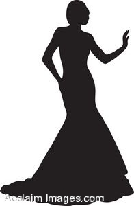 Beautiful clipart evening gown. Silhouette dress at getdrawings