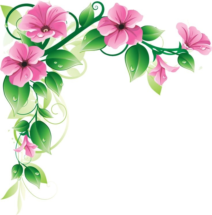Beautiful clipart flower. Pretty flowers borders cliparts