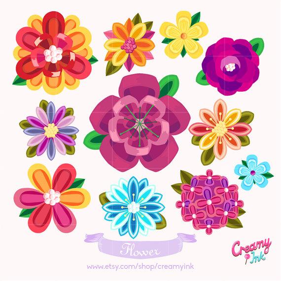 Digital vector clip art. Beautiful clipart flower